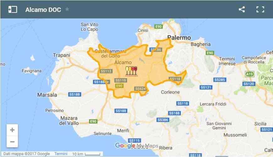Mappa Alcamo DOC 1