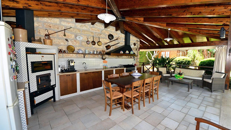 villa palme living cucina giorno
